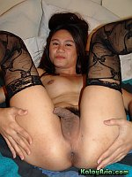 Asian Shemale crossdresser got nuts