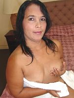 Busty older Asian blowjob then fuck