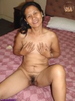Amateur sexy Asia granny gets naked