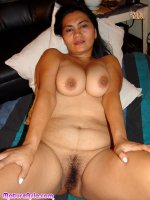 Chunky mature Asian with big boobs