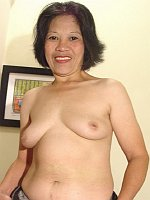 Mature asian has deepthroat fetish