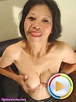 Old Asian sucking then cock fucking