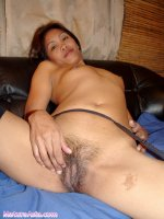 Small thin Asian MILF showing pussy